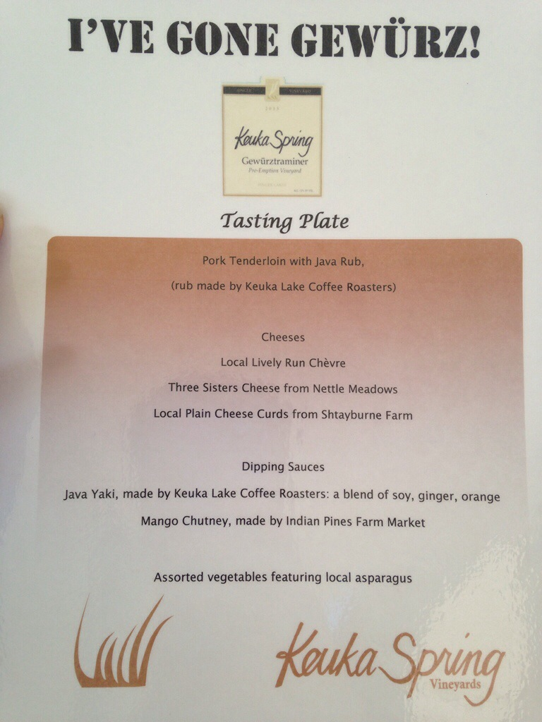 Tasting Plate menu and local producers