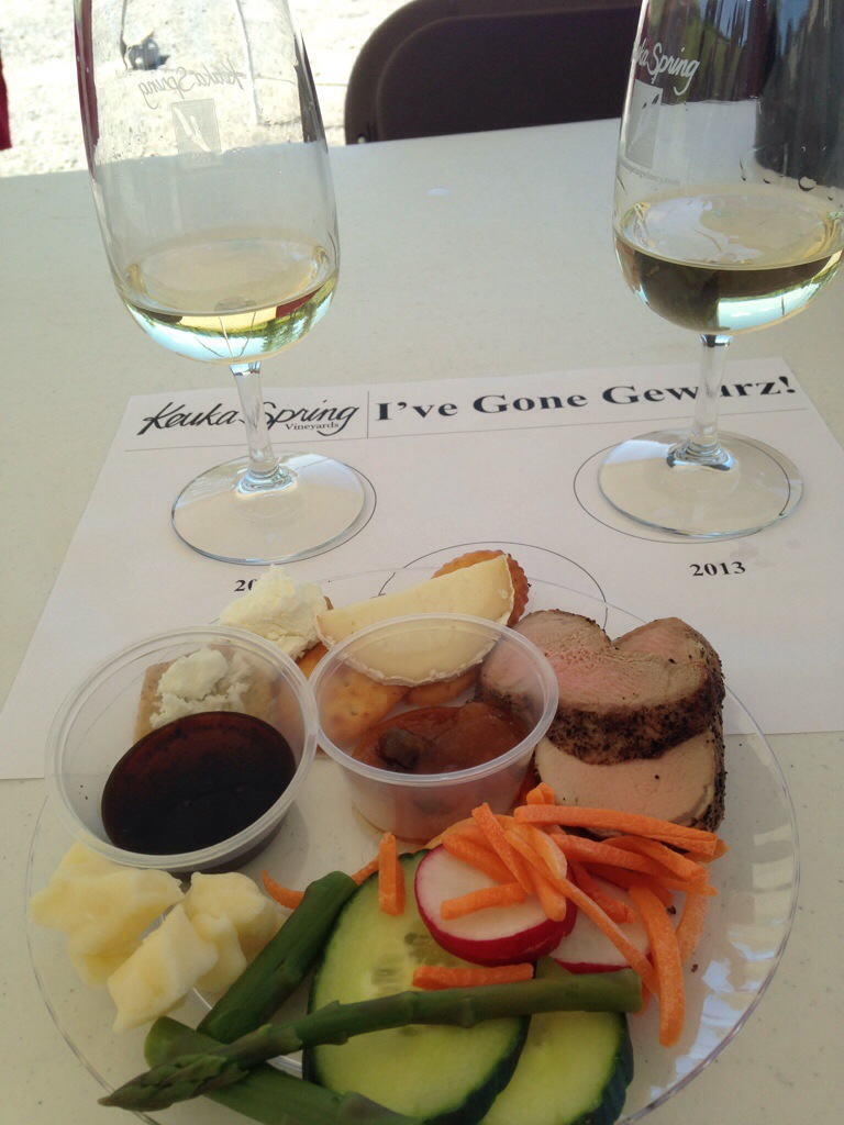 Our tasting sample plate