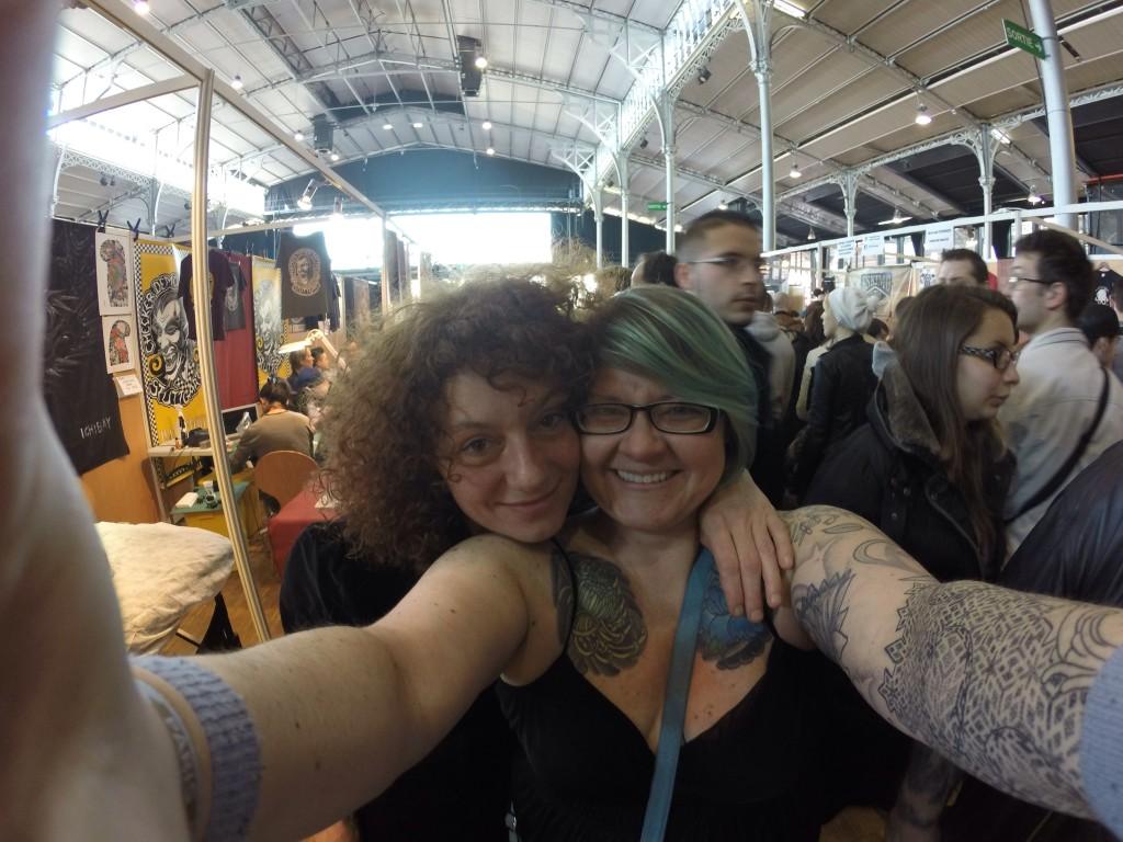 Selfie with artist Titine Leu (wife of Filip Leu) -Leu Family Iron Booth