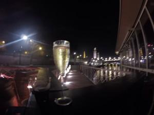 Bubbles and Paris at night