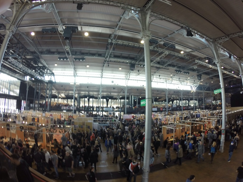 Above the floor at Mondial-there were 2nd floor booths as well this year