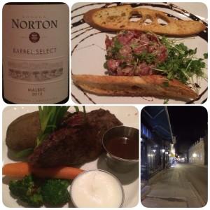 After convention steak dinner at Le Feu Sacré