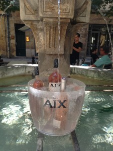 Chilling rosé in AIX Provence