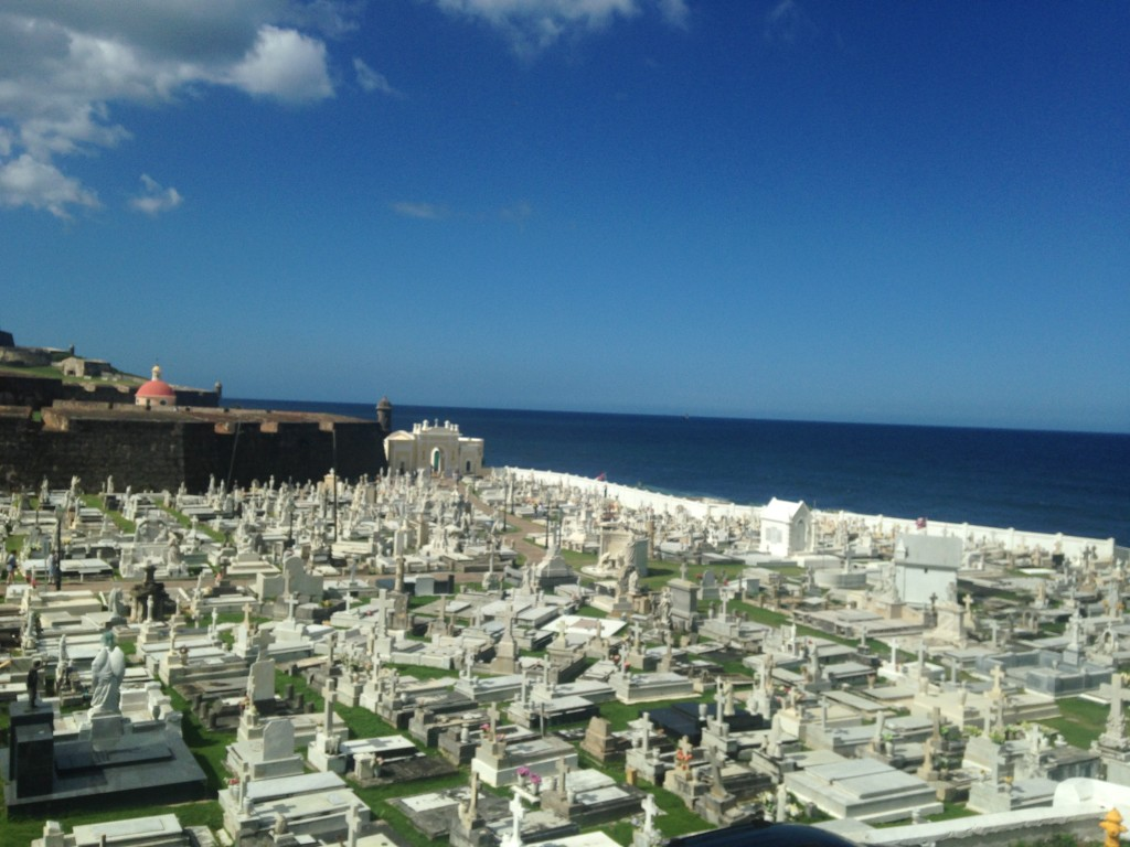 Cemetery crypts with one hell of a view